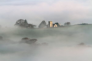 View over a misty Blackmore Vale. Dorset, England, UK. May 2013. - Peter  Lewis