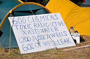 Anti-fracking protest, sign, Balcombe, West Sussex, England. 19th August 2013.  -  Adrian Davies