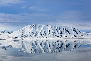 Landscape view across the Woodfjord, Spitzbergen, Svalbard, Norway, June, 2012.  -  Christophe Courteau