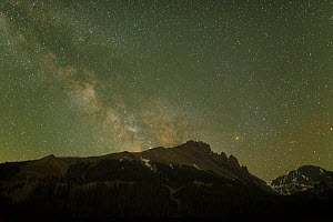 The Milky Way rises over the Craigs, a mountain in the Never Summer Range of Colorado, part of the Rocky Mountains, the night of July 1, 2013.  -  Charlie  Summers
