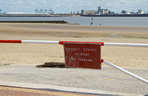 Lifeboat launch slipway at New Brighton, Merseyside, England UK. June 2013. All non-editorial uses must be cleared individually. - Norma  Brazendale
