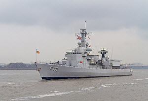 Belgian Warship BNS Louise-Marie sails for home after attending the Battle of the Atlantic 70th Anniversary commemorations (BOA 70) Liverpool, Merseyside, United Kingdom, May 2013. All non-editorial u...  -  Graham  Brazendale