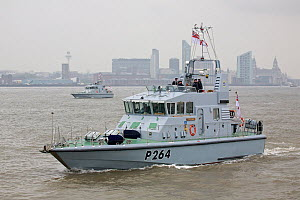 P2000 Patrol boats HMS Archer and HMS Smiter, part of the fleet leaving Liverpool having attended the Battle of the Atlantic 70th Anniversary commemorations (BOA 70) Liverpool, Merseyside, United King...  -  Graham  Brazendale