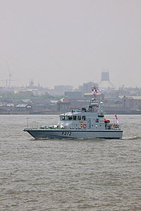 P2000 Patrol boat HMS Smiter, part of the fleet leaving Liverpool having attended the Battle of the Atlantic 70th Anniversary commemorations (BOA 70) Liverpool, Merseyside, United Kingdom, May 2013. A...  -  Graham  Brazendale