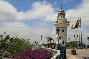 El Faro - City Lighthouse at the top of Santa Ana Hill, Guayaquil, Ecuador, August 2010.  -  Michele  Westmorland