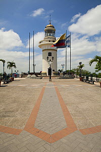 El Faro - City Lighthouse at the top of Santa Ana Hill.  Guayaquil, Ecuador  -  Michele  Westmorland