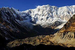 Mount Annapurna I (8091m) from base camp, Annapurna Sanctuary, central Nepal, November 2011.  -  Enrique Lopez-Tapia