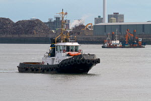 SMIT Tug 'Zeebrugge', River Mersey, Liverpool, Merseyside, United Kingdom, August 2013. All non-editorial uses must be cleared individually. - Graham  Brazendale