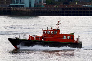Liverpool Pilot boat 'Kittiwake' on the River Mersey. Liverpool, Merseyside, United Kingdom, August 2013. All non-editorial uses must be cleared individually. - Graham  Brazendale