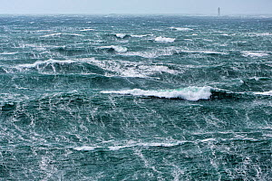 Rough seas during Storm 'Ruth', Ile d'Ouessant, Armorique Regional Park, Iles du Ponant, Finistere, Brittany, France, Iroise Sea. 8th February 2014.  France, Bretagne, Finistere, Mer d'Iroise, Iles du... - Benoit  Stichelbaut