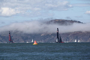 Race 14 of the 34th America's Cup between 'Emirates Team New Zealand' and 'Oracle Team USA', San Francisco Bay, California, USA, 22nd September 2013 . All non-editorial uses must be cleared individual... - Sandra  Canon