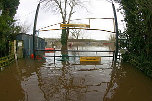 Caravan site flooded during the February 2014 floods, Upton upon Severn, Worcestershire, England, UK, 9th February 2014. - David  Woodfall
