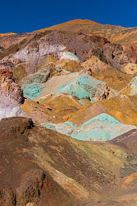 Artists Palette with multicoloured rocks formed by the oxidation of various metals, Death Valley National Park, California, USA, March 2013. - Juan  Carlos Munoz