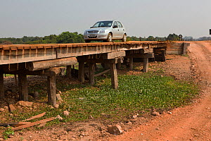 Wooden bridges on the Transpantaneira dirt road. Pantanal, Mato Grosso, Brazil, September 2010. - Angelo Gandolfi
