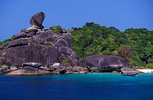 "The ""Balancing Rock"" in Donald Duck Bay, Similan Islands, Thailand. - Brandon Cole"