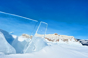Clear panes of ice on Lake Baikal, Siberia, Russia, March.  -  Olga Kamenskaya