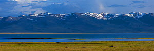 Song-Kul Lake, Karatal-Japyryk State Nature Reserve, Tian Shan mountains, Kyrgyzstan, Central Asia, July 2013. Stiched panorama out of two exposures.  -  Axel  Gomille