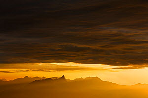 Stockhorn mountain at sunset, Bernese Alps, Switzerland, August 2012. - Radomir  Jakubowski