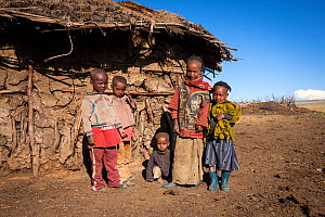 Ethiopian children, Rafu. Bale Mountains National Park, Ethiopia, December 2011.  -  Will Burrard-Lucas