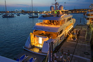 Superyacht moored at the Newport Charter Yacht Show the Yacht Hop, Newport Rhode Island, USA. June 2012.  -  Billy  Black