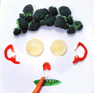 Face made from various vegetables.  -  Pal Hermansen