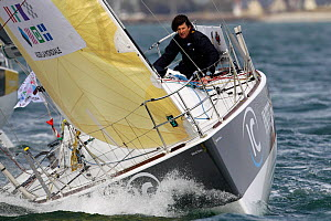 �Interface Concept� preparing for the Transat AG2R, Concarneau, France, 29th March 2014. All non-editorial uses must be cleared individually.  -  Benoit  Stichelbaut