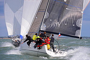 J Lance 9 competing in the J111 World Championship, Cowes, Isle of Wight England. Race 3 & 4, 21 August 2014. All non-editorial uses must be cleared individually.  -  Rick  Tomlinson