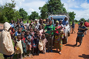 Group of local people outside village on road to Katanga, Democratic Republic of Congo, March 2012. - Steve O. Taylor (GHF)