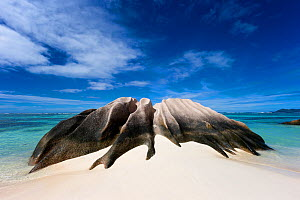 Rock formation on Anse Source d'Argent beach. La Digue Island, Seychelles. November, 2012.  -  Hougaard Malan