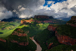 Stormy weather over Blyde River Canyon, Mpumalanga, South Africa. January 2011. - Hougaard Malan