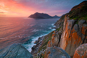 Sunset along Chapmans Peak pass. Cape Town, South Africa. August 2011. - Hougaard Malan