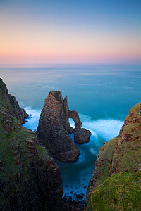 Cathedral rock at sunrise. Pondoland, Eastern Cape, South Africa. June 2012.  -  Hougaard Malan
