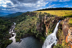Berlin falls on a summer afternoon. Panorama route, Mpumalanga, South Africa. March 2013.  -  Hougaard Malan