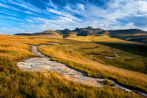 Hills of the Maluti Drakensberg. Golden Gate National Park, Free State, South Africa. April 2013. - Hougaard Malan