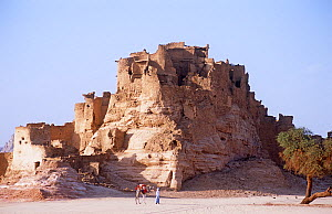 Ancient fort at Segedine on the desert trail to southern Libya. Niger, 2005.  -  Steve O. Taylor (GHF)