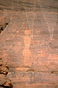 Rock painting of warrior, northern Niger, 2005. - Steve O. Taylor (GHF)