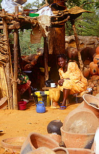 Local woman at pottery market, Niamey, Niger, 2004.  -  Steve O. Taylor (GHF)