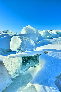 Ice formations on Lake Baikal, Siberia, Russia, March 2012.  -  Olga Kamenskaya