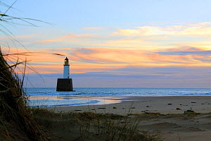 Sunrise at Rattray Head Lighthouse, north-east Scotland, January 2014. All non-editorial uses must be cleared individually. - Philip  Stephen