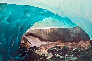 Ice cave melting in Mendenhall Glacier, Juneau, Alaska, USA, August 2014. - Floris  van Breugel