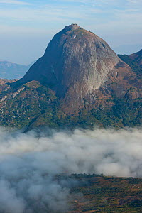 Aerial view of  Mount Namuli, Mozambique, May 2011.  -  Hugh Pearson