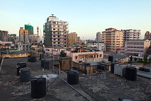 Dar es Salaam rooftop skyline, Tanzania, October 2012. - Tom  Gilks