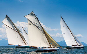 Classic yachts racing during Le Vele D'Epoca Napoli, Panerai Classic Yacht Challenge 2013. Naples, Italy, 27th June 2013. All non-editorial uses must be cleared individually. - Sea  & See
