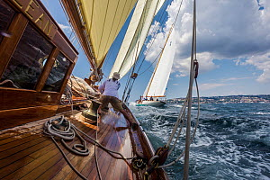 Aboard 'Eilean' during the Panerai Classic Yacht Challenge, Le Vele D'Epoca Napoli 2013. Naples, Italy, 29th June 2013. All non-editorial uses must be cleared individually. - Sea  & See