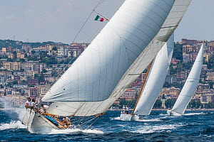 'Halloween' and 'Manitou' racing during the Panerai Classic Yacht Challenge, Le Vele D'Epoca Napoli 2013. Naples, Italy, 29th June 2013. All non-editorial uses must be cleared individually. - Sea  & See