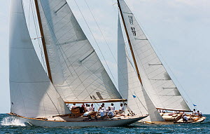 Classic Yachts 'Emilia' and 'Cholita' racing, Panerai Classic Yacht Challenge, Le Vele D'Epoca Napoli 2013. Naples, Italy, 28th June 2013. All non-editorial uses must be cleared individually. - Sea  & See