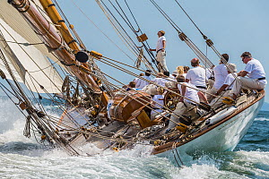 'Mariquita' racing during Le Vele D'Epoca Napoli, Panerai Classic Yacht Challenge 2013, Naples, Italy, 27th June 2013. All non-editorial uses must be cleared individually. - Sea  & See