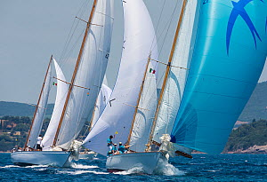 Classic Yachts 'Skylark' and 'Manitou' racing during the Panerai Classic Yacht Challenge, Argentario Sailing Week 2013. Porto Santo Stefano, Italy, 16th June 2013. All non-editorial uses must be clear... - Sea  & See