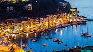 Porto Santo Stefano Harbour lit at night, during the Panerai Classic Yacht Challenge, Argentario Sailing Week 2013. Porto Santo Stefano, Italy, 16th June 2013. All non-editorial uses must be cleared i... - Sea  & See