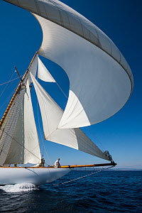Classic yacht 'Mariquita' racing in the Panerai Classic Yacht Challenge, Argentario Sailing Week 2013. Porto Santo Stefano, Italy, 14th June 2013. All non-editorial uses must be cleared individually. - Sea  & See